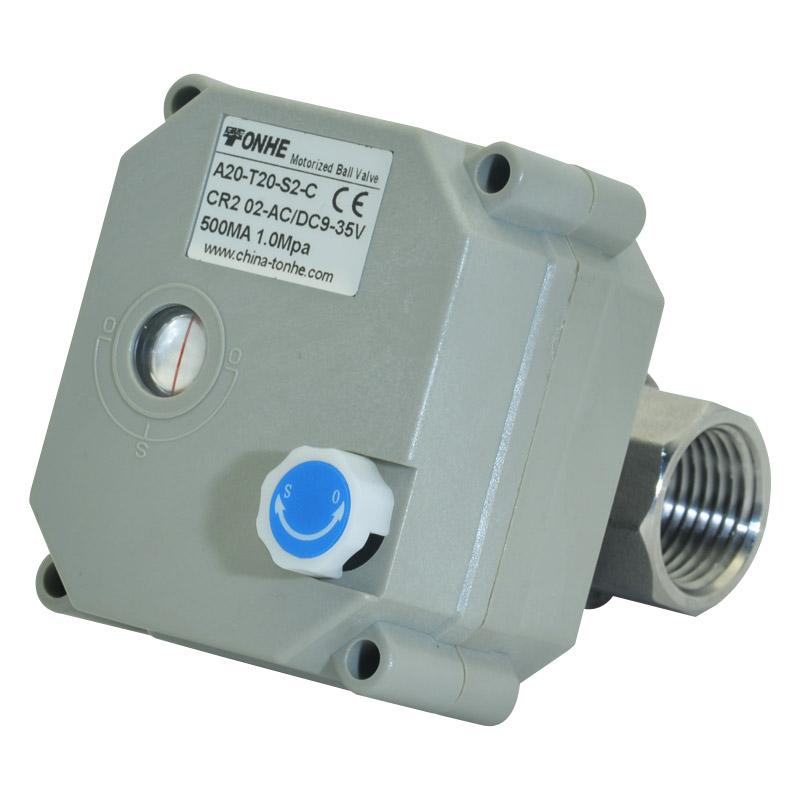 不锈钢微型电动球阀(t20-s2-b)